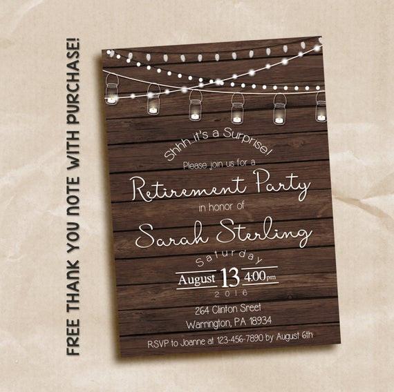 Surprise Retirement Party Ideas  Surprise retirement party invitation surprise party