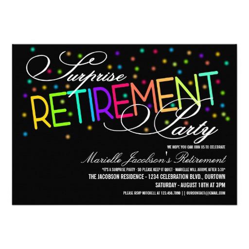 Surprise Retirement Party Ideas  Surprise Retirement Party Invitations