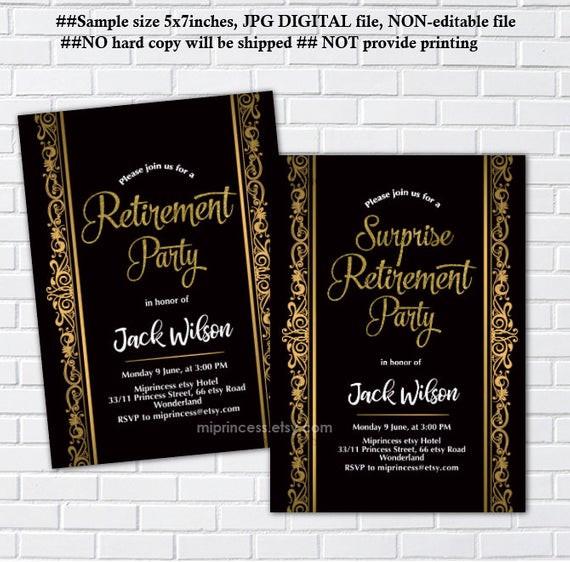 Surprise Retirement Party Ideas  Retirement party Invitation surprise Retirement party