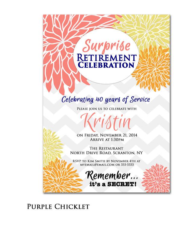 Surprise Retirement Party Ideas  Surprise Retirement Party Celebration Invitation by