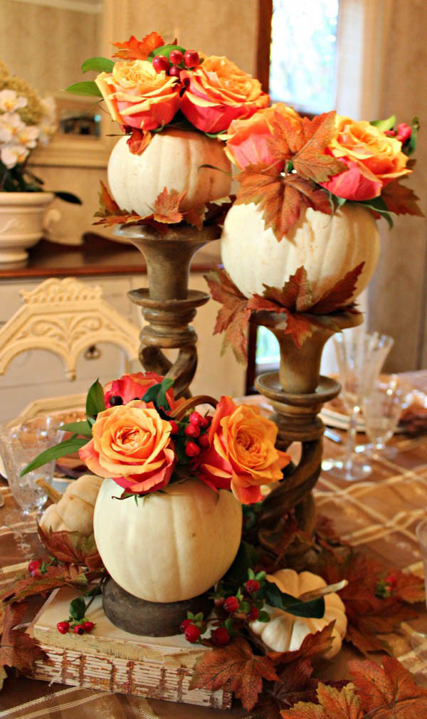 Table Decorations For Thanksgiving  31 Stylish Thanksgiving Table Decor Ideas Easyday
