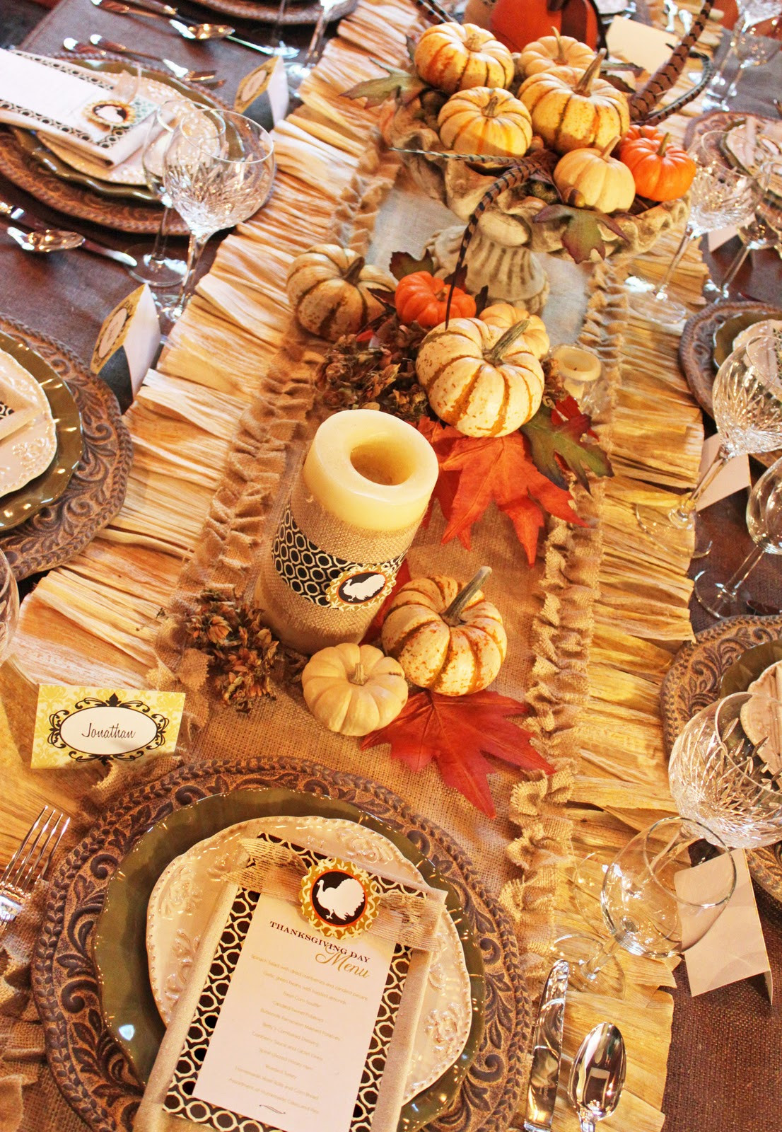 Table Decorations For Thanksgiving  Amanda s Parties To Go Thanksgiving Dinner Tablescape