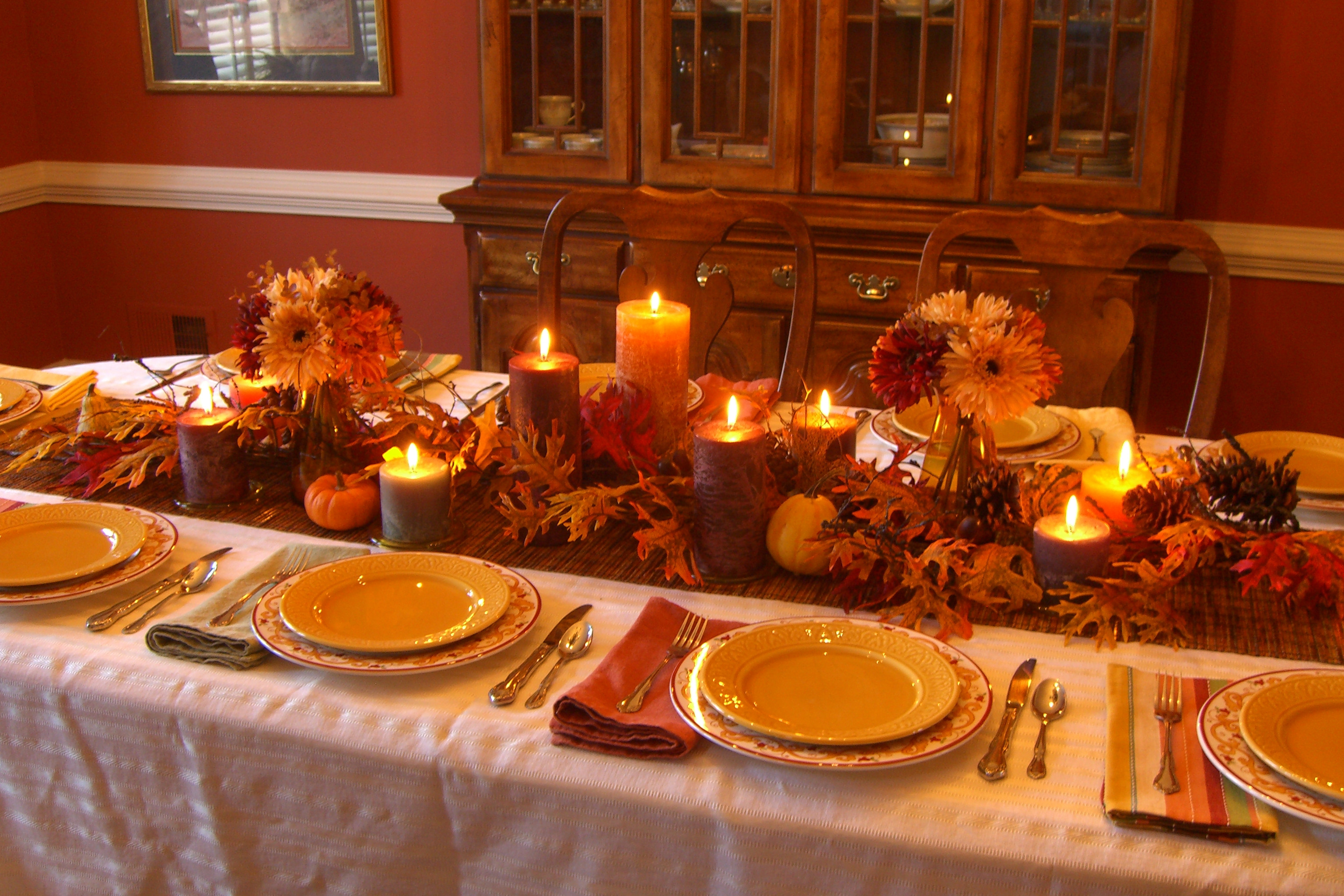 Table Decorations For Thanksgiving  Decorating My Thanksgiving Table