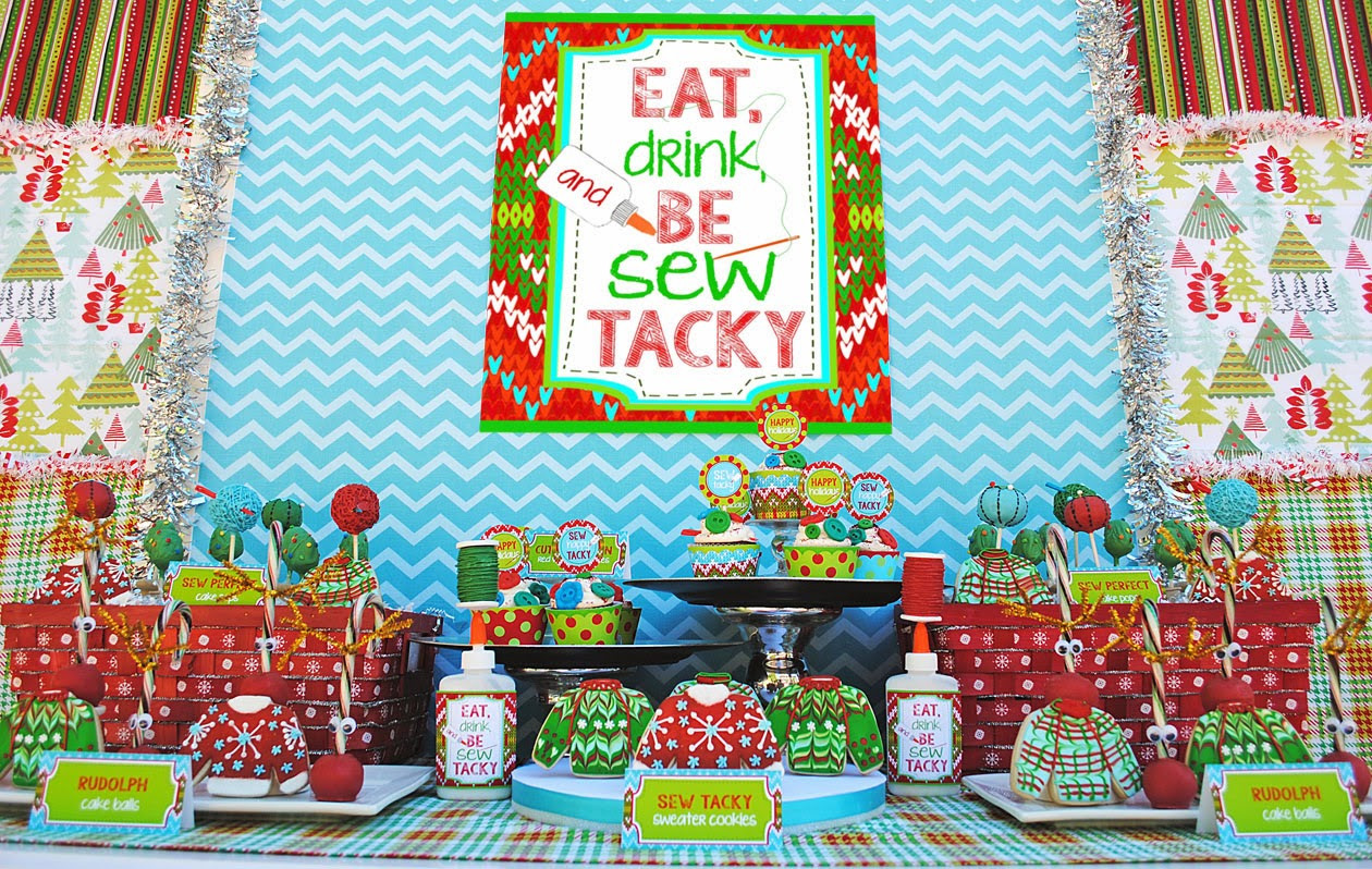 """Tacky Christmas Party Ideas  """"Let s Be Sew Tacky"""" Party Design Dazzle"""