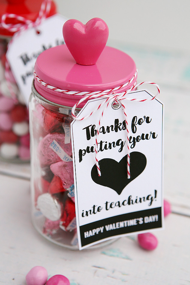 Teacher Valentines Gift Ideas  Thanks For Putting Your Heart Into Teaching Eighteen25