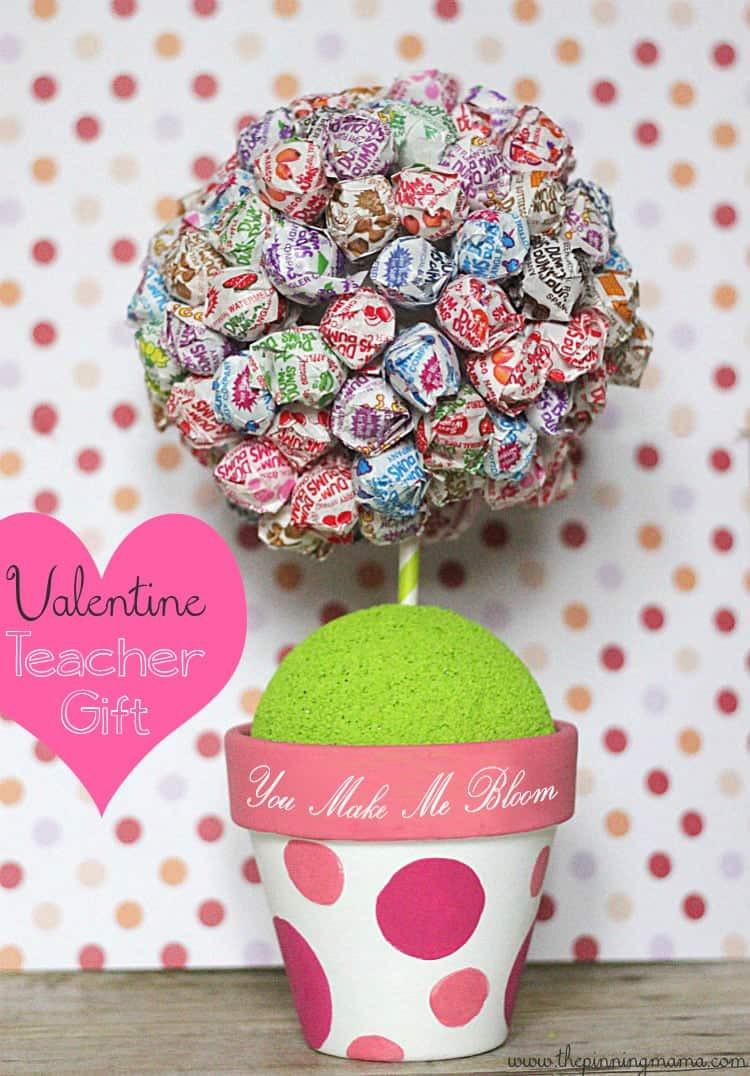 Teacher Valentines Gift Ideas  You Make Me Bloom Valentine s Day Teacher Gift