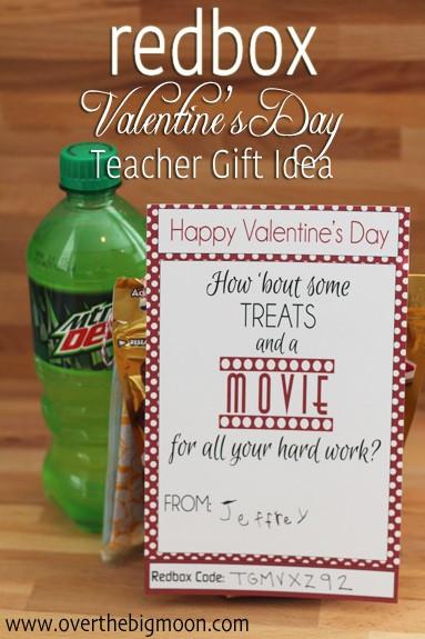 Teacher Valentines Gift Ideas  Redbox Valentines Teacher Gift Idea Over The Big Moon