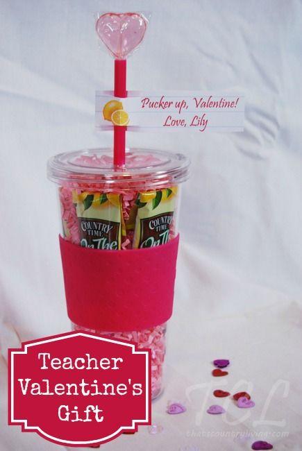 Teacher Valentines Gift Ideas  Teacher Valentine s Day Gift Idea Drink Tumbler