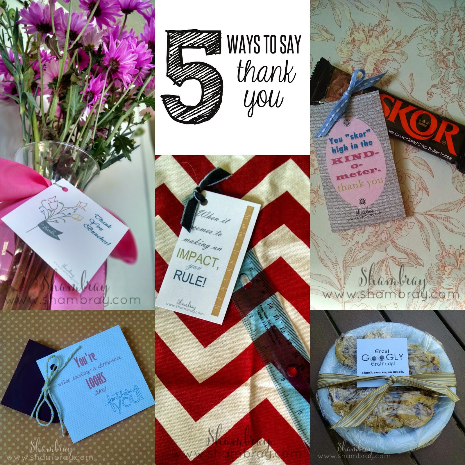 Thank Gift Ideas  Shambray Creative ways to say thank you and t ideas