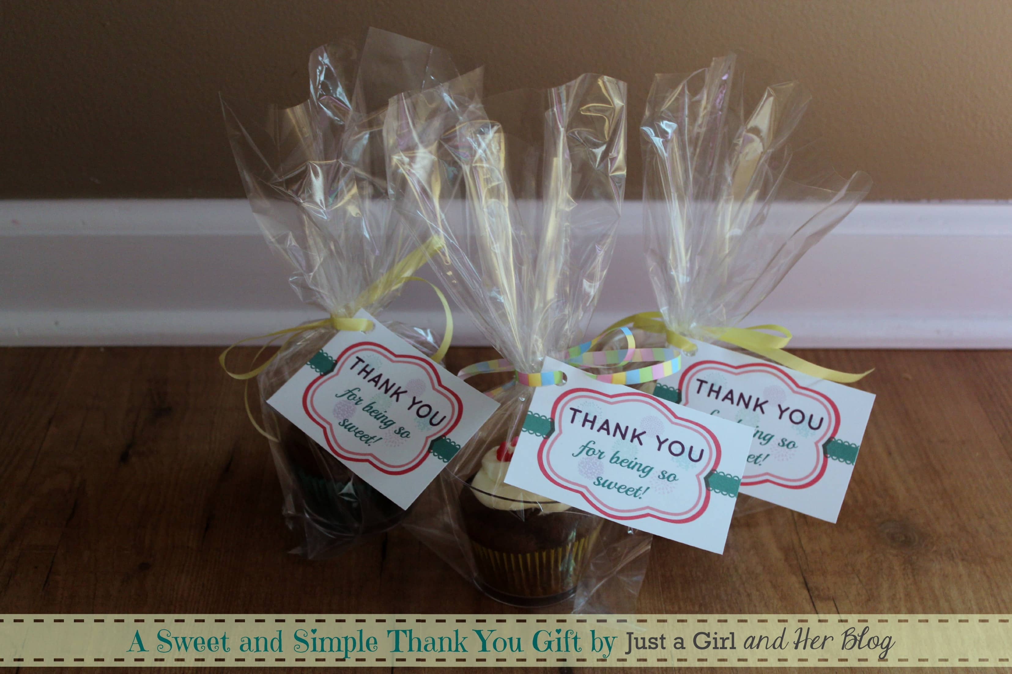 Thank Gift Ideas  A Sweet and Simple Thank You Gift with FREE Printable
