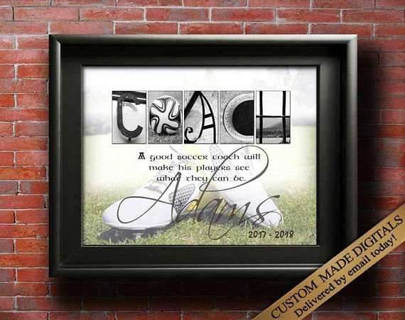 Thank You Coach Gift Ideas  Soccer Coach Gifts For Soccer Coaches Gift Ideas SOCCER Mom