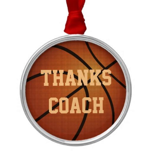 Thank You Coach Gift Ideas  Coach Thank You Gift Ideas Basketball Ornaments