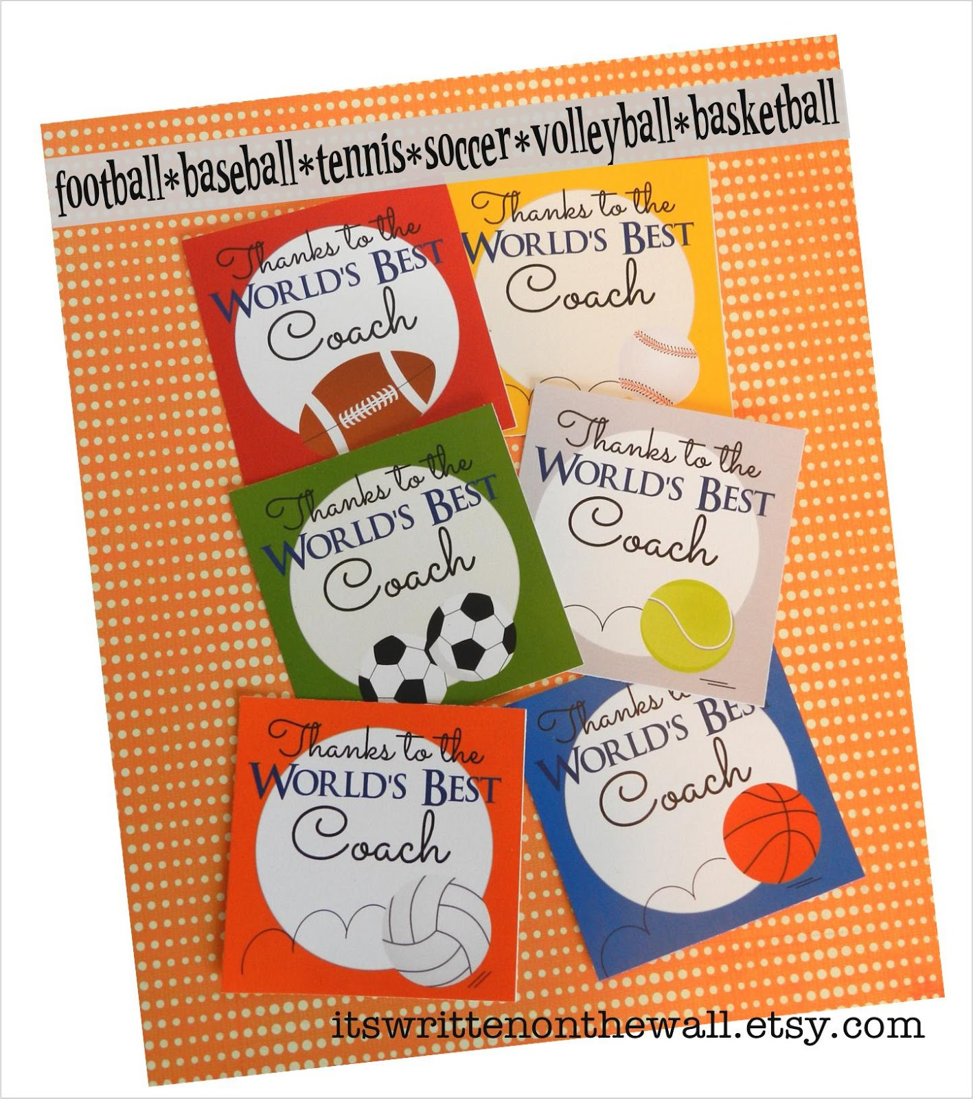 """Thank You Coach Gift Ideas  It s Written on the Wall """"Thanks Coach"""" Gift Card & Gift"""