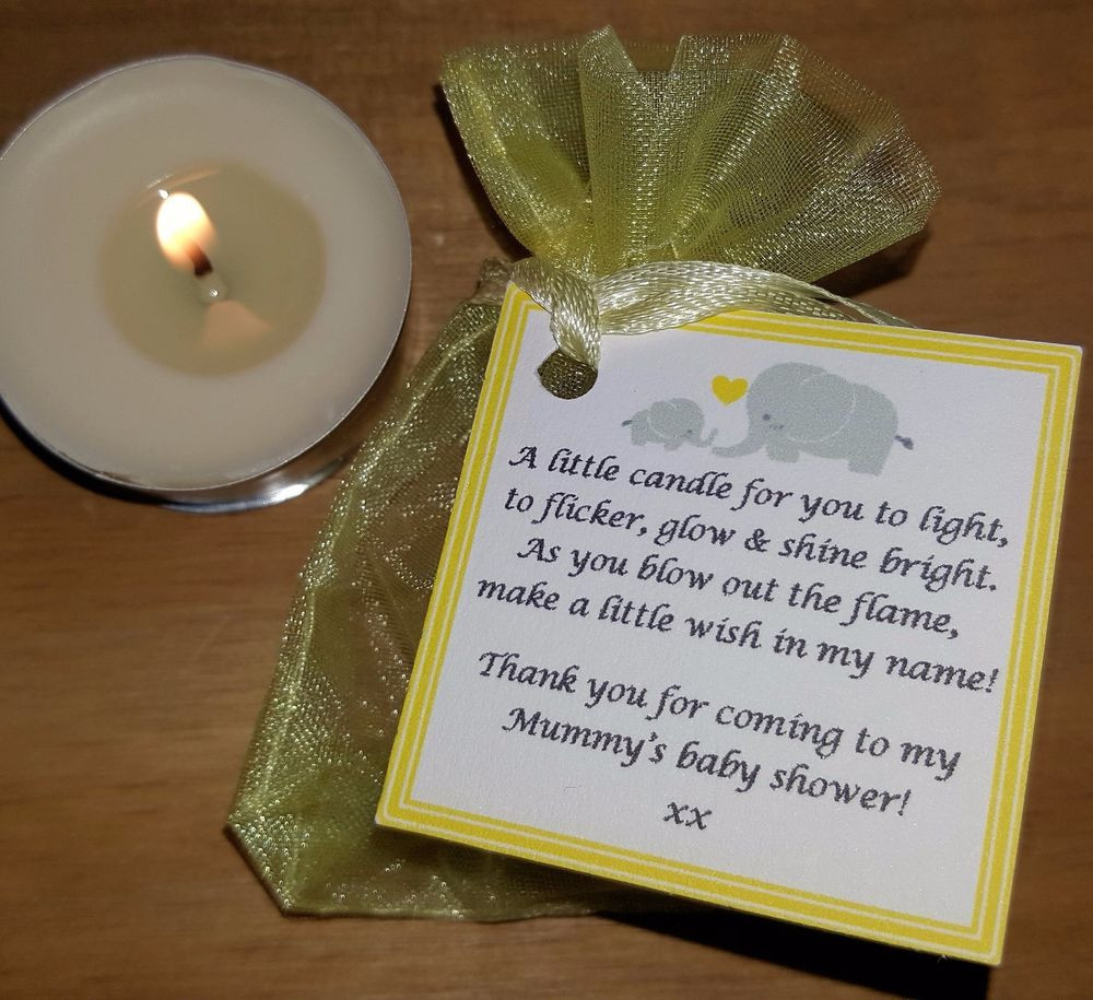 Thank You Gift Ideas For Baby Shower Guests  BABY SHOWER FAVOURS VANILLA CANDLES Can be personalised