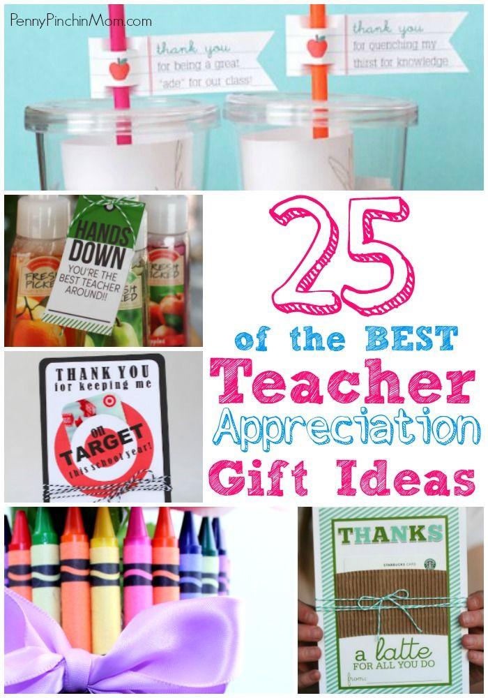 Thank You Teacher Gift Ideas  Teacher Appreciation & Teacher Gifts a collection of