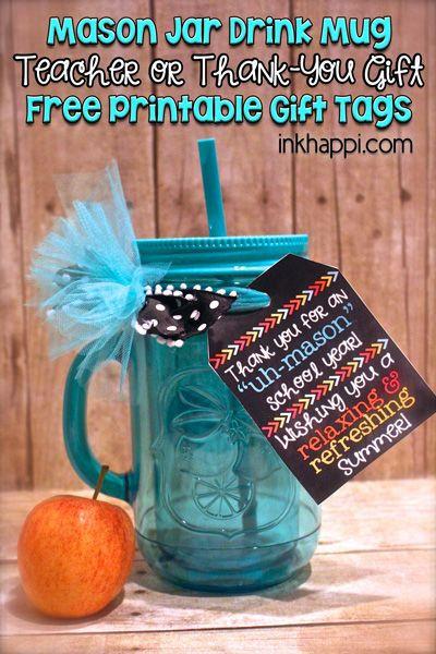 Thank You Teacher Gift Ideas  Teacher Gift Idea and Free Printable Gift Tags