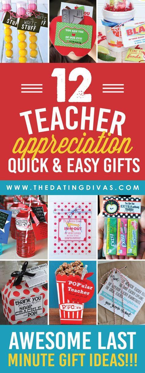 Thank You Teacher Gift Ideas  363 best images about Teacher Appreciation Week on