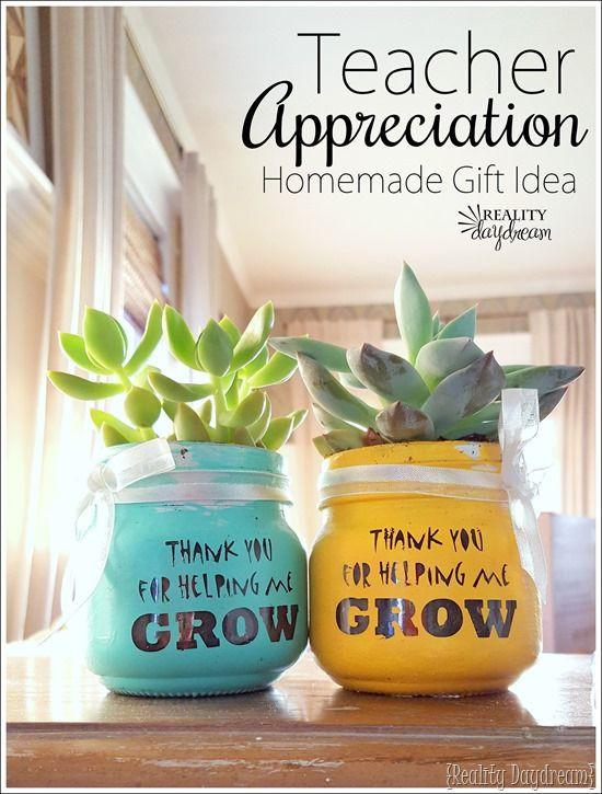 Thank You Teacher Gift Ideas  Teachers Day Succulent Idea Thank you for helping me