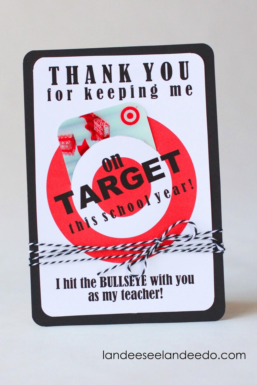 Thank You Teacher Gift Ideas  Teacher Gift Idea Printable Tar Gift Card Holder
