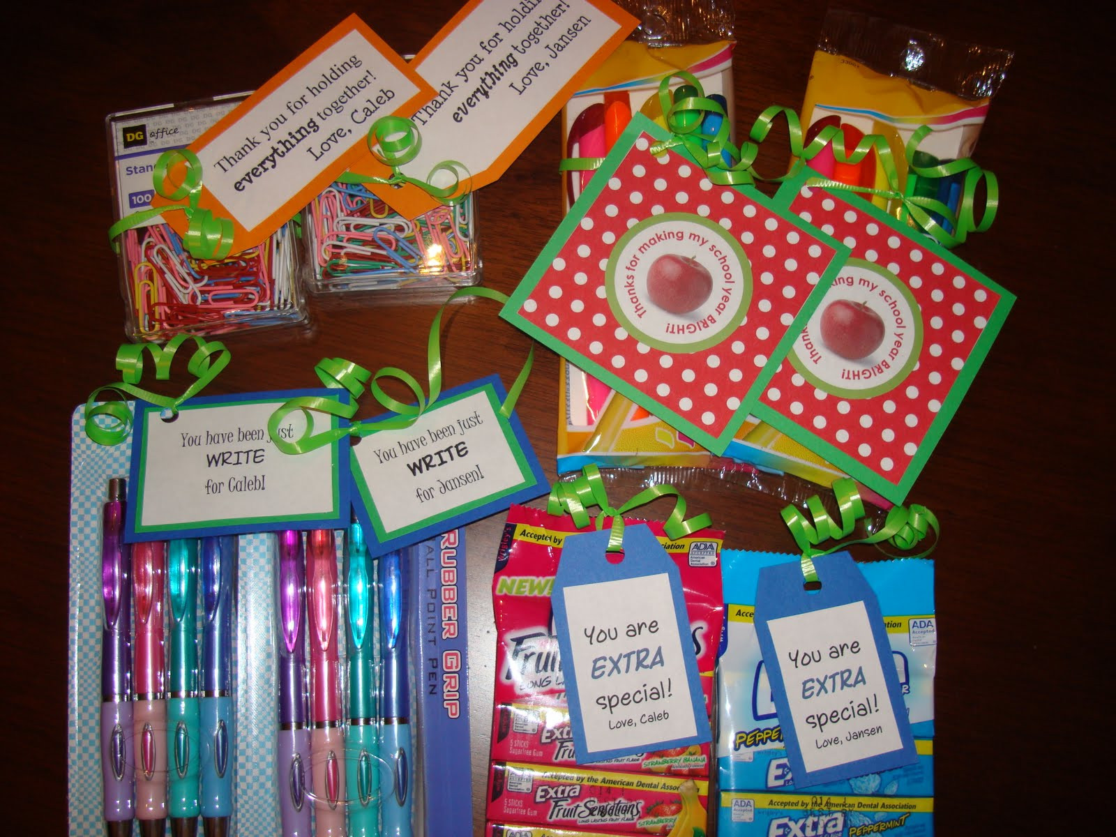 Thank You Teacher Gift Ideas  I saw that going differently in my mind Teacher