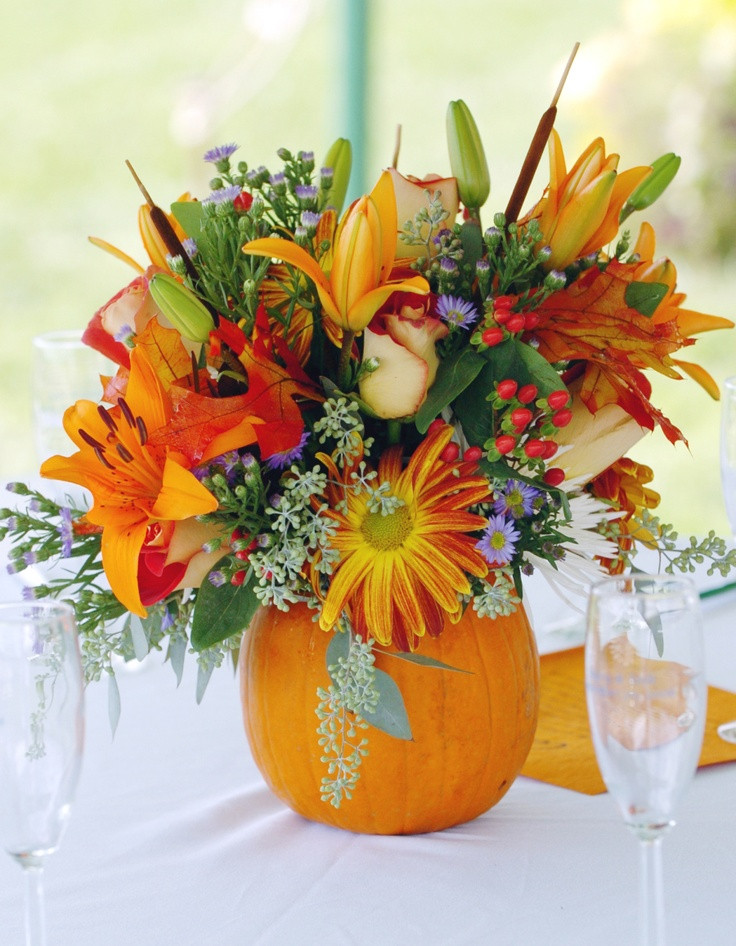 Thanksgiving Flower Arrangement Ideas  534 best Fall or Thanksgiving Decorations images on