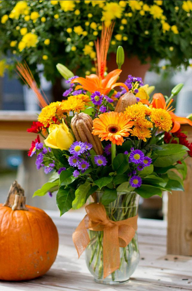 Thanksgiving Flower Arrangement Ideas  Thanksgiving Decor Floral Centerpiece