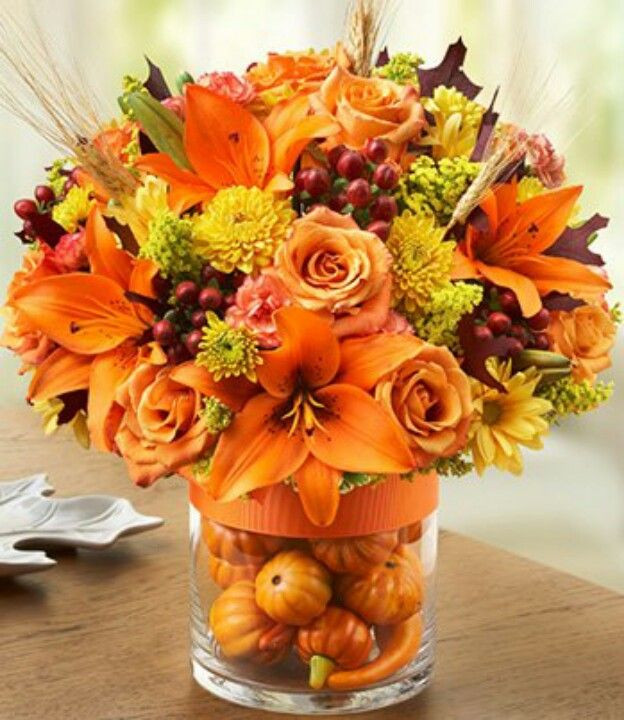 Thanksgiving Flower Arrangement Ideas  Pin by mary richards on Projects to Try