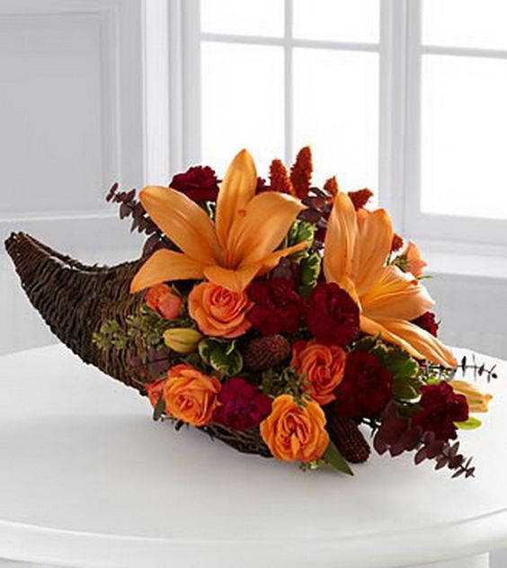 Thanksgiving Flower Arrangement Ideas  Thanksgiving Floral Centerpiece Ideas 18