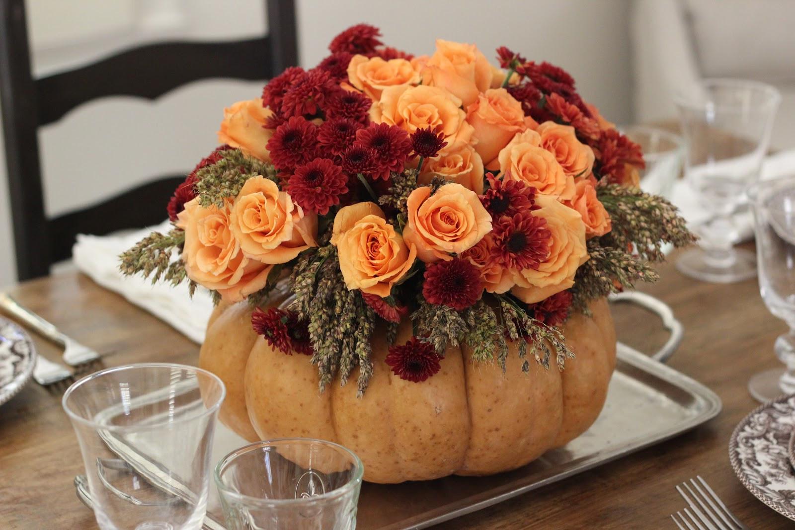 Thanksgiving Flower Centerpiece  Jenny Steffens Hobick DIY Thanksgiving Centerpiece