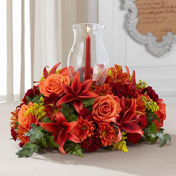 Thanksgiving Flower Centerpiece  Order Your Thanksgiving Floral Décor Centerpieces and