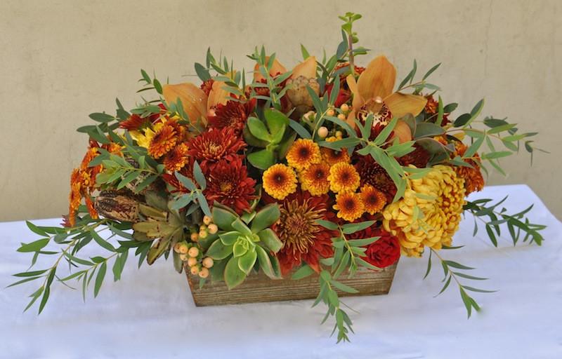 Thanksgiving Flower Centerpiece  Happy Thanksgiving Centerpieces by Flower Duet