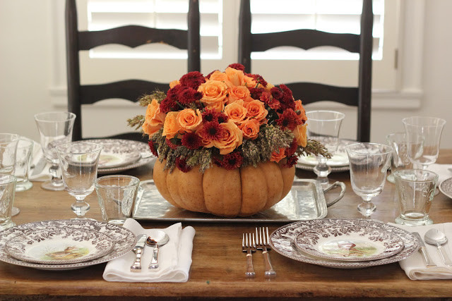 Thanksgiving Flower Centerpiece  Jenny Steffens Hobick Thanksgiving Table Setting