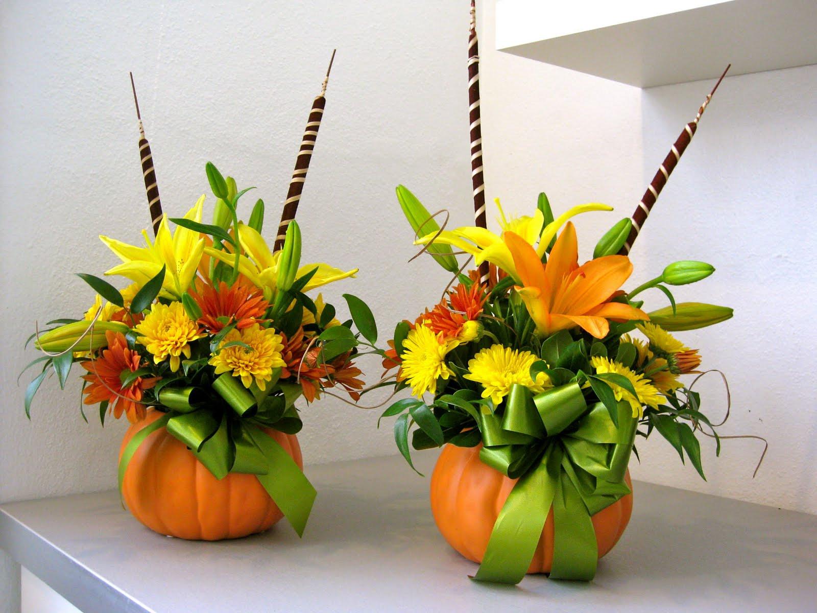Thanksgiving Flower Centerpiece  Petals & Paper Boutique Thanksgiving Centerpieces