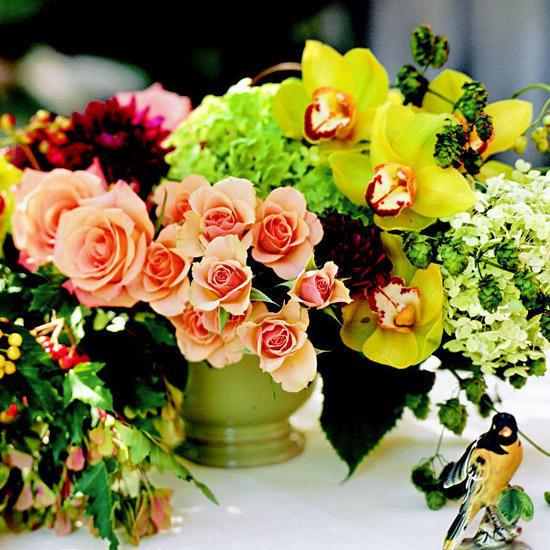 Thanksgiving Flower Centerpiece  Pretty Thanksgiving Centerpieces