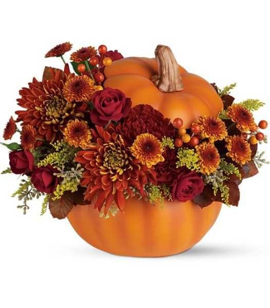 Thanksgiving Flower Centerpiece  89 best Thanksgiving Floral Arrangments images on