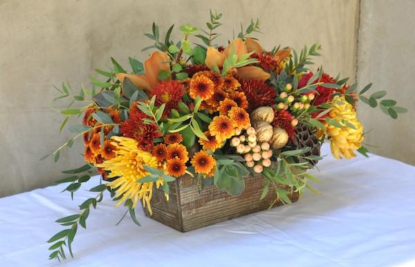 Thanksgiving Flower Centerpiece  Thanksgiving Flowers Hair Wreath Station