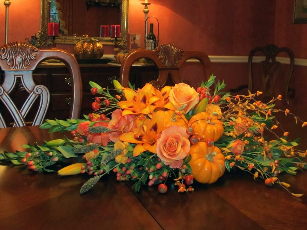 Thanksgiving Flower Centerpiece  Festive Thanksgiving Table Centerpieces