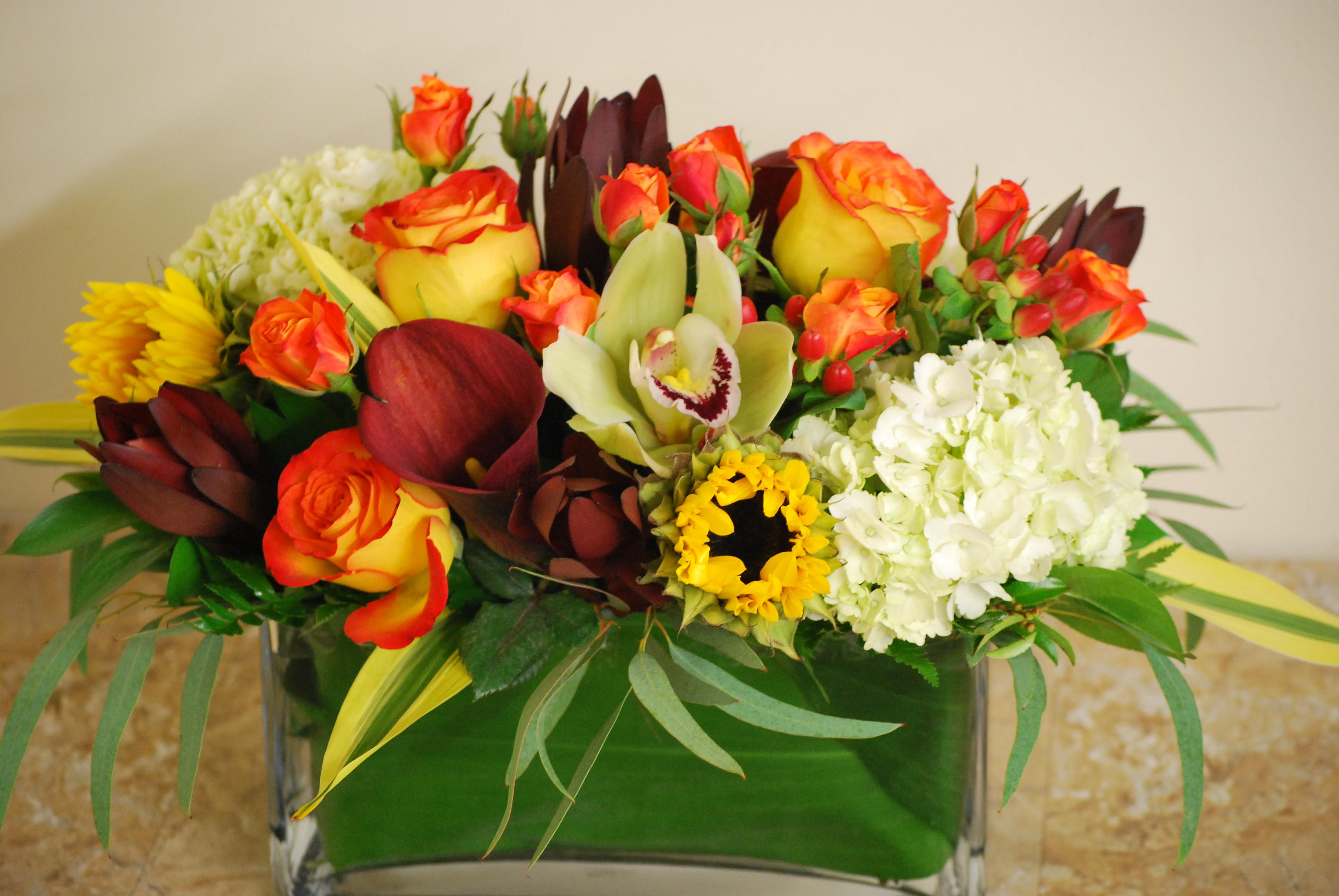 Thanksgiving Flower Centerpiece  Thanksgiving Flowers