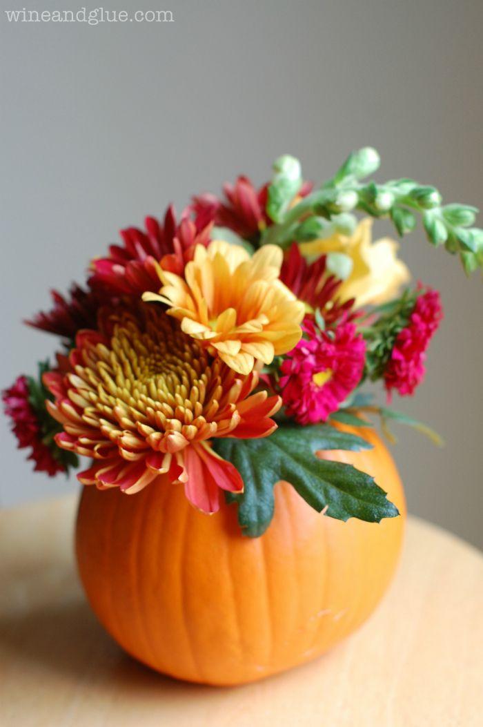 Thanksgiving Flower Centerpieces  Best 25 Pumpkin floral arrangements ideas on Pinterest