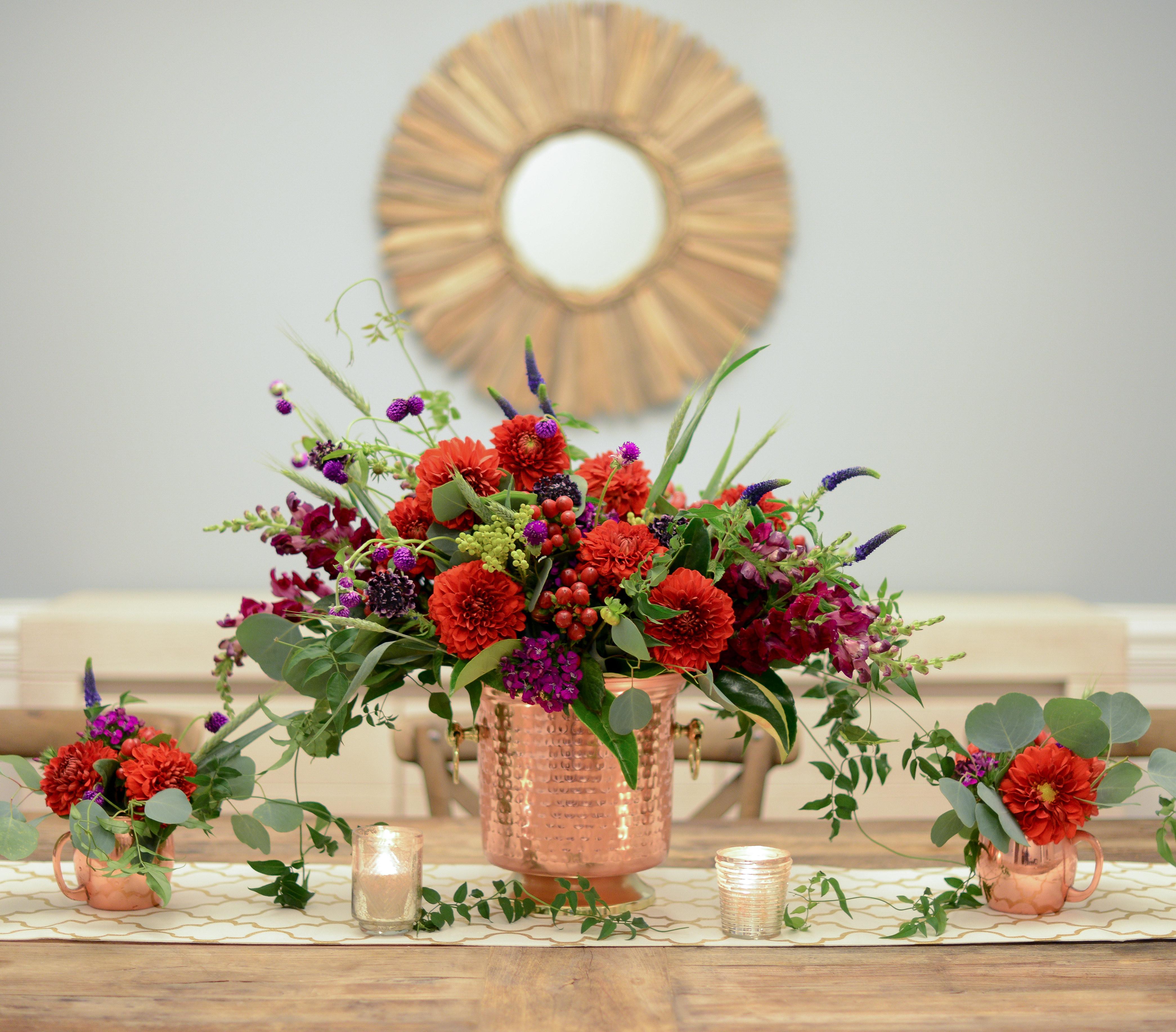 Thanksgiving Flower Centerpieces  Find a Unique Vase