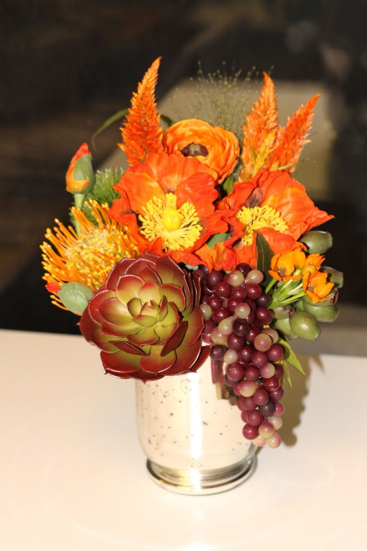Thanksgiving Flower Centerpieces  16 best Thanksgiving Floral Centerpieces images on