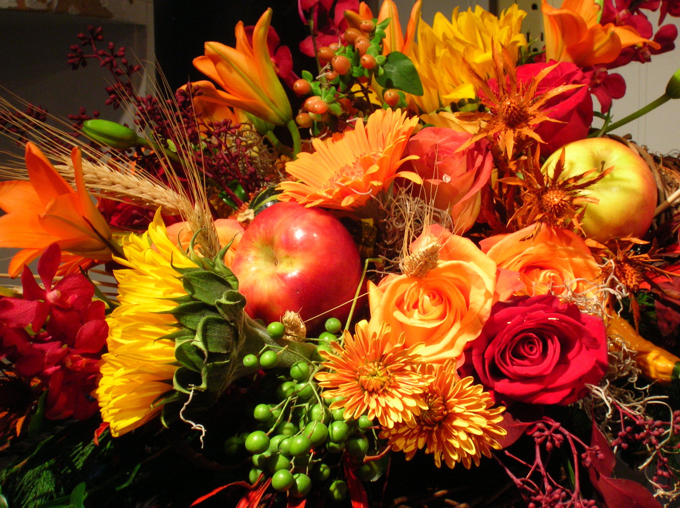 Thanksgiving Flower Centerpieces  Ferns And Flowers