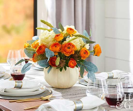 Thanksgiving Flower Centerpieces  Pretty Thanksgiving Centerpieces