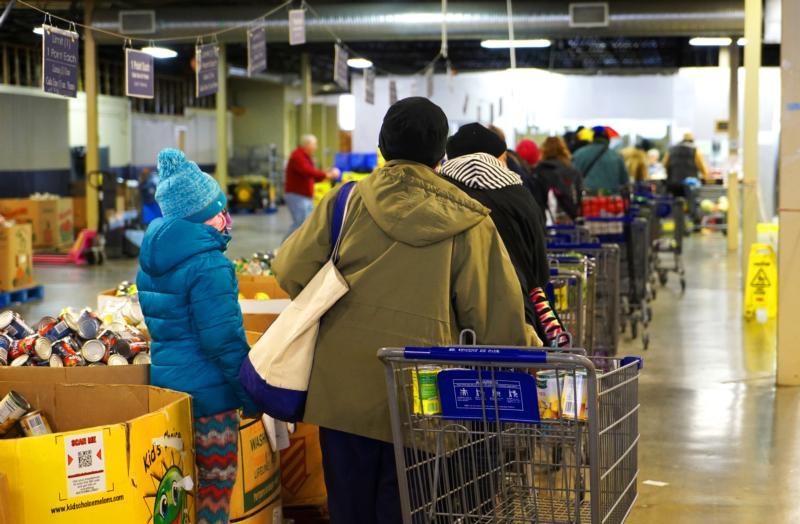 Thanksgiving Food Pantry  Huge Catholic run food pantry creates Thanksgiving