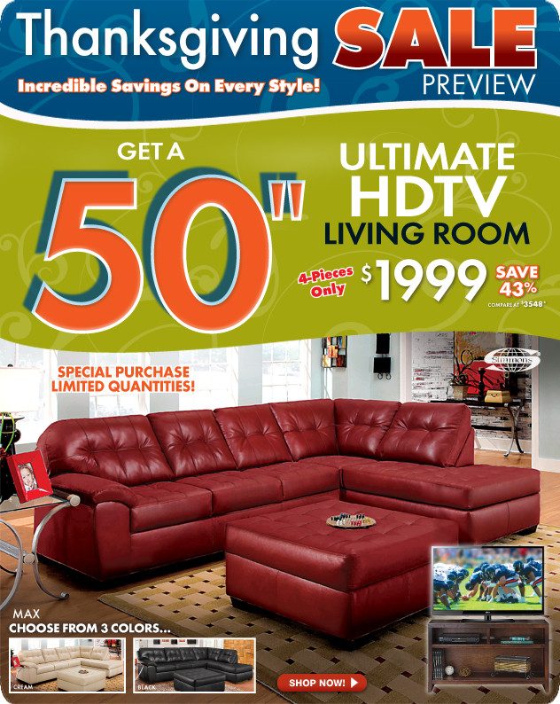 Thanksgiving Furniture Sale  Pre Thanksgiving Sale Starts Today at The RoomPlace – The