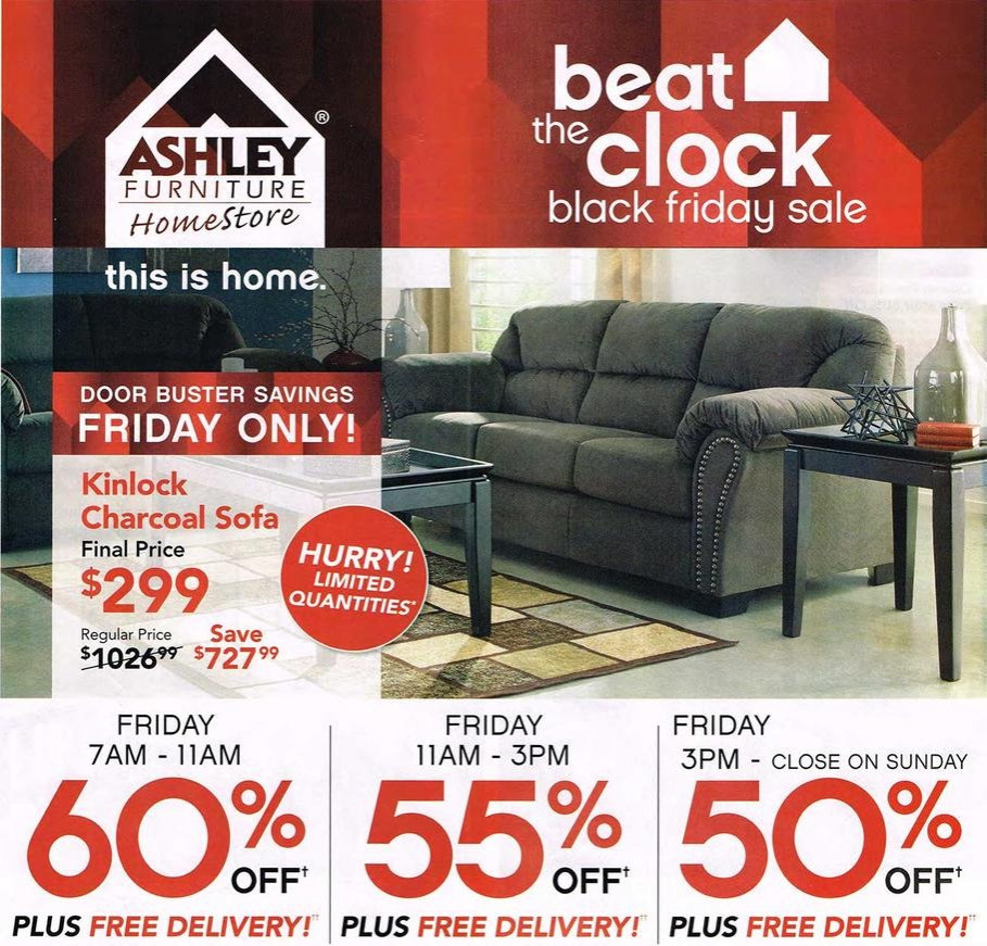 Thanksgiving Furniture Sale  Ashley Furniture 2015 Black Friday Ad Black Friday
