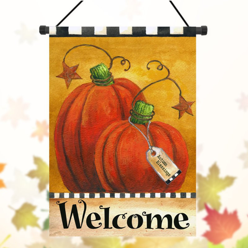 Thanksgiving Garden Flags  Thanksgiving Pumpkin Christmas Halloween Wel e Autumn