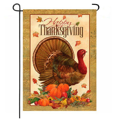 Thanksgiving Garden Flags  Thanksgiving Turkey Garden Flag Fall Garden Flags