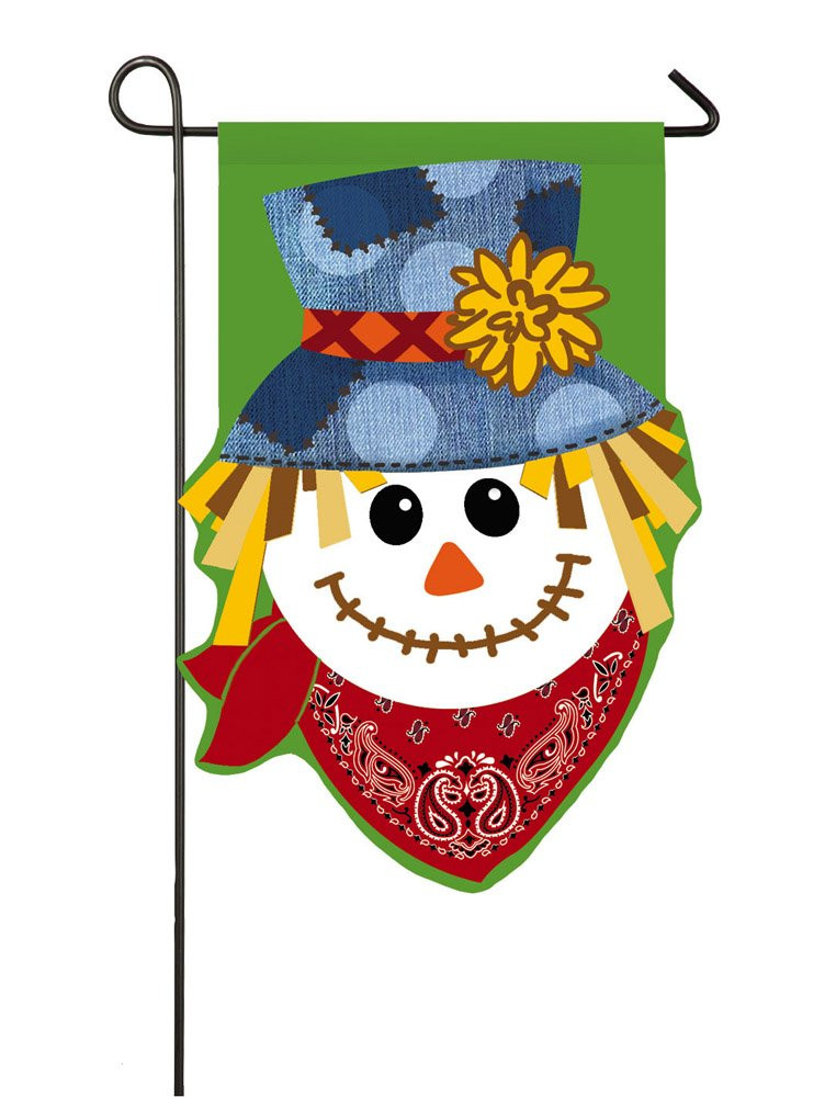 Thanksgiving Garden Flags  Thanksgiving Scarecrows Garden Flags