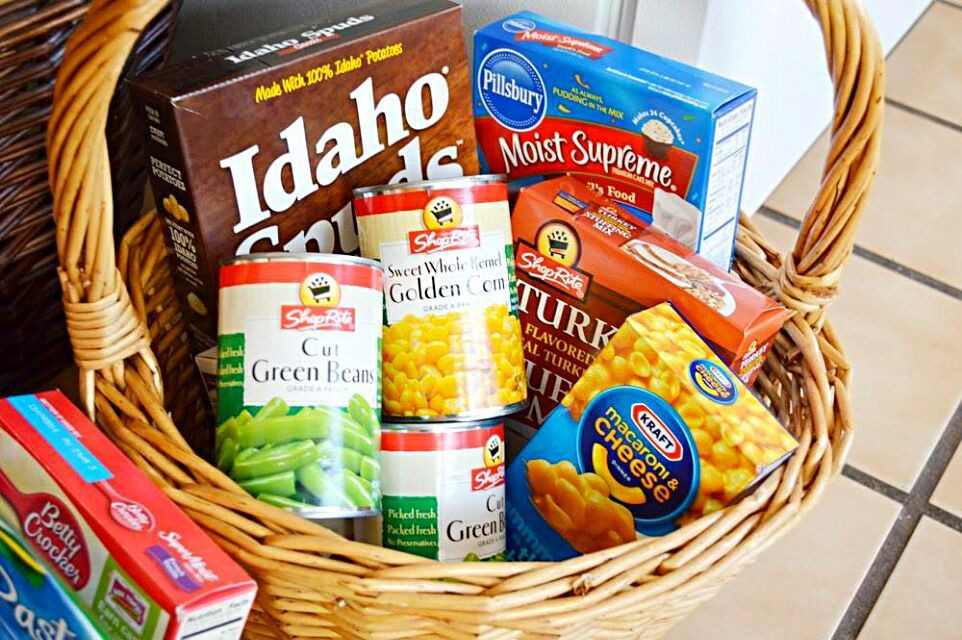 Thanksgiving Gift Ideas For The Family  Thanksgiving Giving Finishing up Baskets for Families In